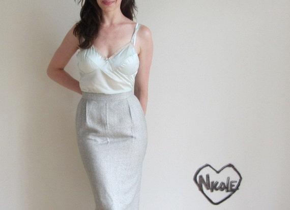 pale mint chemise . 1960 lingerie tank top .medium .sale s a l e