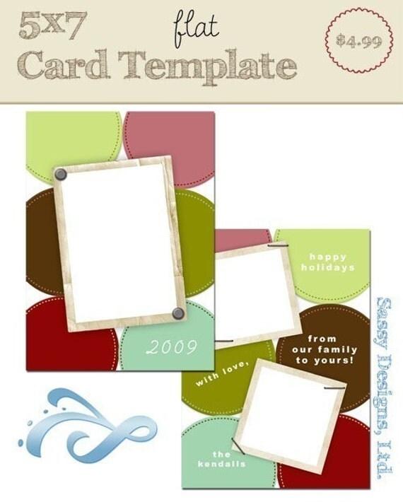 5x7 flat card template glee. Black Bedroom Furniture Sets. Home Design Ideas