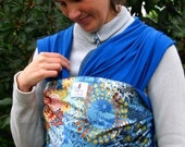 BABY WRAP SLING, Carrier - Ready to Ship - Easy to Use - One Size Fits All - \/ Pavo Real \/