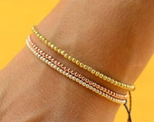 Gold Rose  beads  friendship bracelet