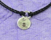 Initial sterling silver personalized bracelet