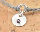 Stamped Initial sterling silver personalized bracelet