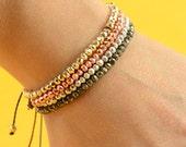 Pyrite bracelet.Rose,gold,silver or natural