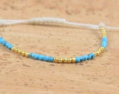 Vermeil and turquoise bracelet