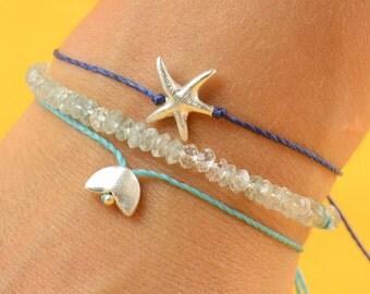 Star charm bracelet . sterling silver