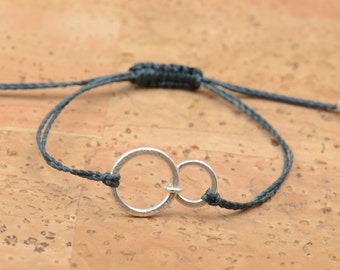 Double Good Karma  bracelet-sterling silver