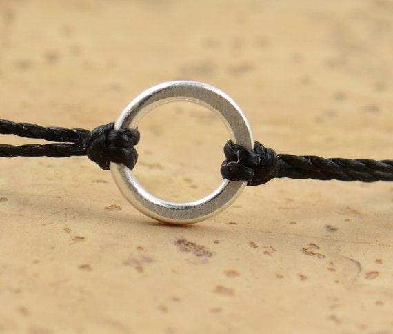 Sterling Silver Karma bracelet . friendship .wedding