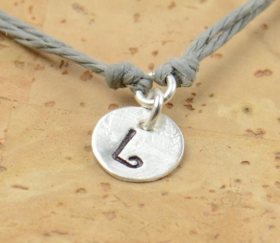 Sterling silver personalized bracelet.