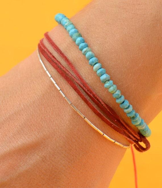 SALE-Silver beads bracelet