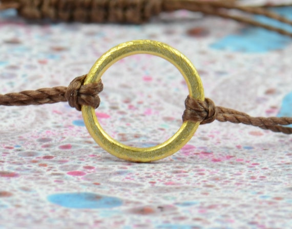 1,5 cm  eternity  circle gold Karma bracelet