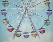 Ferris Wheel Matted 8inx10in Print