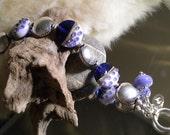 Lampwork Bracelet PURPLE SPREES