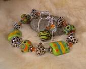 Lampwork Bracelet - GROOVY BABY