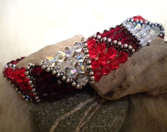BRACELET - Swarovski crystals and silver