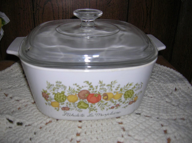 Vintage Corningware Spice Of Life 3 Qt Casserole By Smitty551