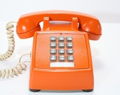 Refurbished Retro Bell Orange Push Button Phone