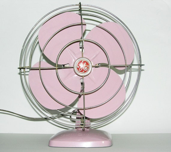 Pink Electric Fan : Refurbished s vintage ge pink electric fan by