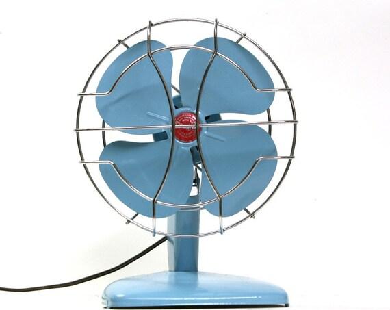 Refurbished Superlectric Vintage Blue Electric Fan