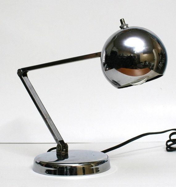 Vintage Retro 1960s Chrome Desk Lamp by FishboneDeco on Etsy
