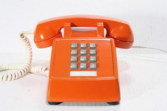 Refurbished Retro ITT Orange Push Button Phone