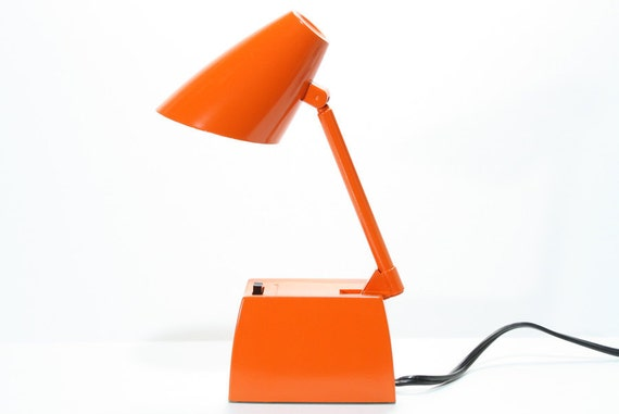 Vintage Retro Orange  Lightolier Electric Desk Lamp