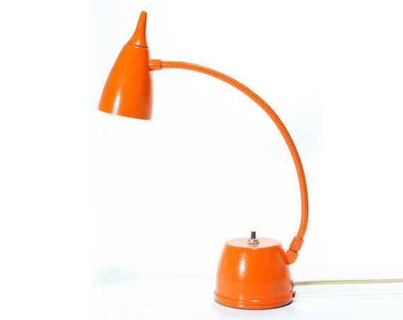Vintage Retro Orange Electric Desk Lamp