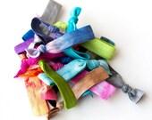 20 Elastic Tie Dye Hair Ties that Double as Bracelets by Mane Message on Etsy