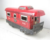 Vintage Marx Tin Train Caboose, New York Central Lines