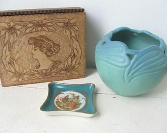 Antique Flemish Art Trinket Box, Pyrographic Folk Art