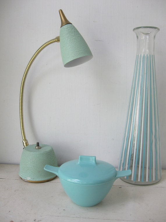 Mid Century Modern Goose Neck Lamp, Atomic 60's