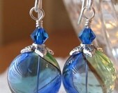 Nadia Earrings in Blue and Green