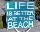 Beach Sign Shabby Cottage Coastal Nursery and Nautical Decor