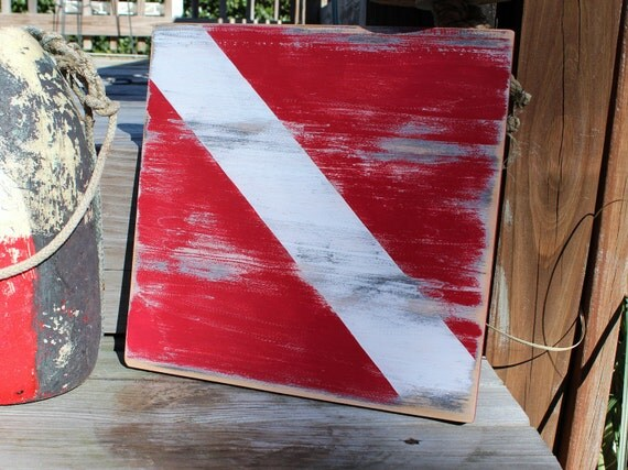 Dive Sign Vintage Style Nautical Home Decor Nautical Nursery Beach Sign