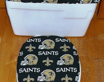 New Orleans Saints Toilet Seat Cover and Tank Lid Cover Set