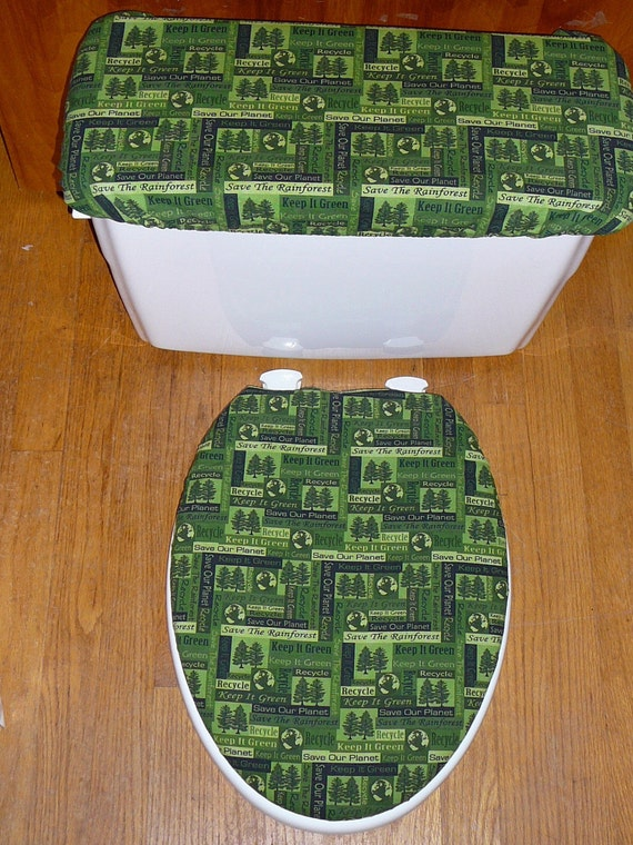 Think Green Toilet Seat And Tank Lid Cover By