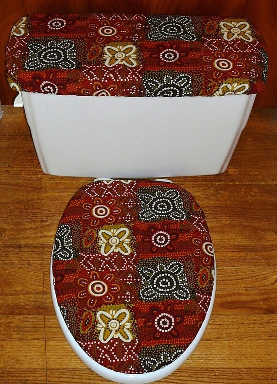 Mosaic Toilet Seat Cover And Tank Lid Cover Set