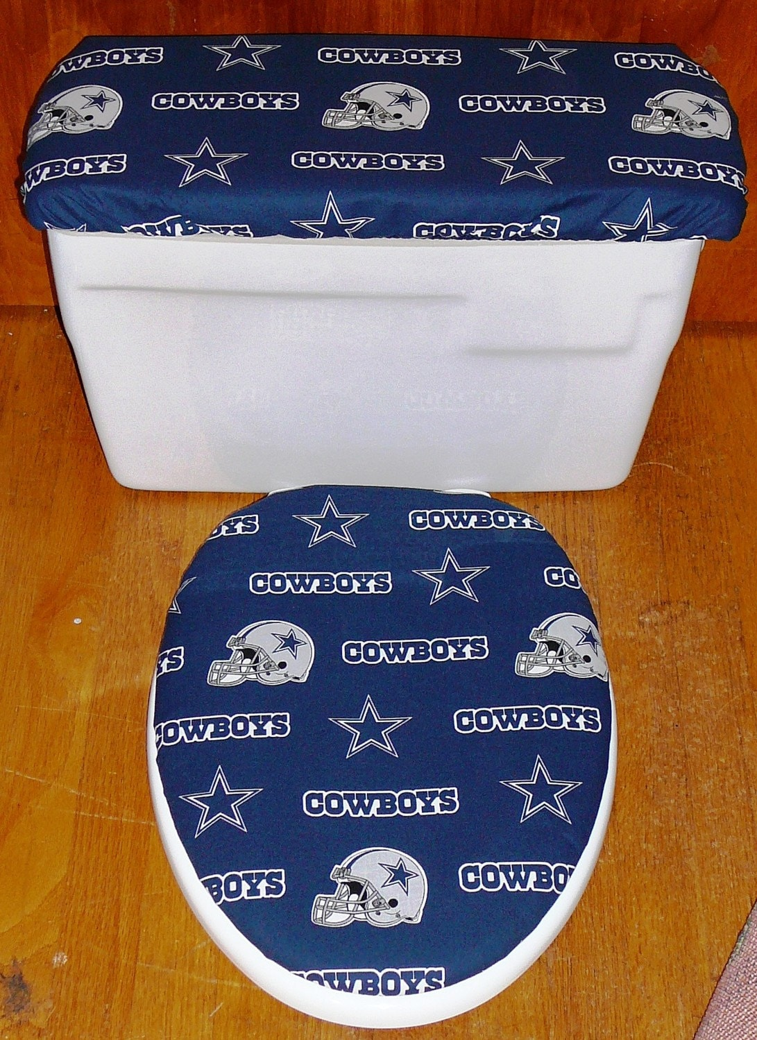 Dallas Cowboys Toilet Seat And Tank Lid Cover Set
