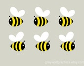 Bumblebee wall decals