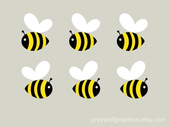 Items similar to bumblebee wall decals on etsy for Bumble bee mural