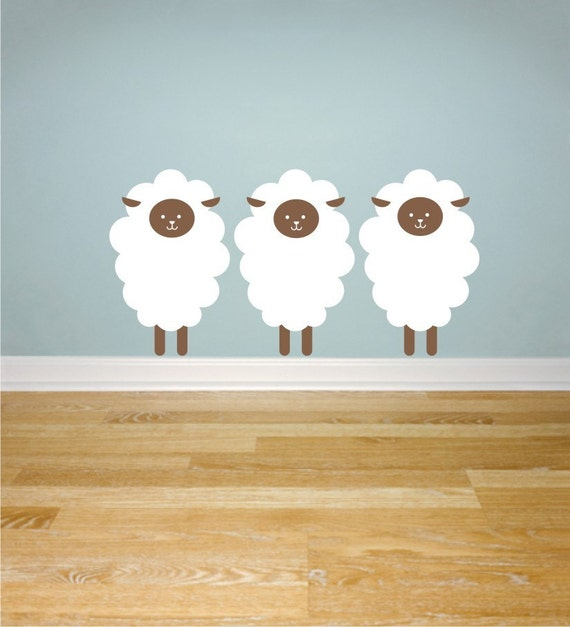 Items similar to sheep wall decals on etsy for Baby golf room decor