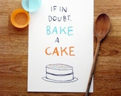 Bake a Cake screen-print