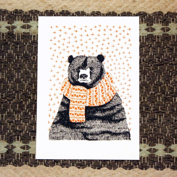 January Bear print - LAST ONE