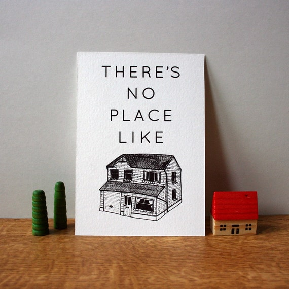 No Place Like Home gocco print