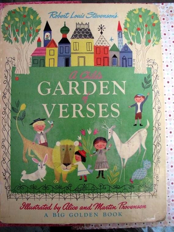 Vintage 1951 Child's garden of Verses CHARMING