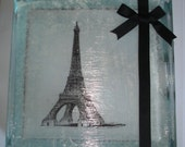 Eiffel Tower Glass Block Night LIght