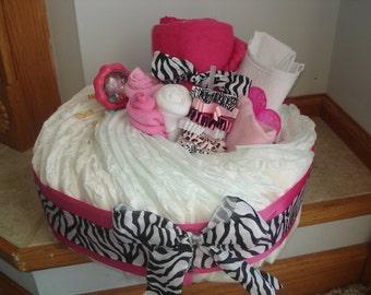 Zebra Print Diaper Basket