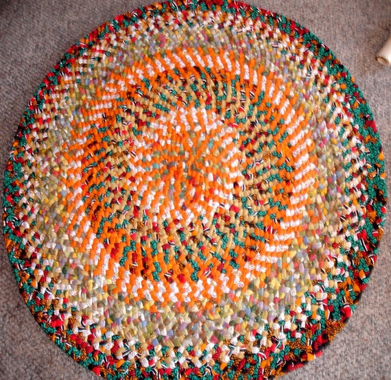 Braided Rug Handmade From Recycled Cotton