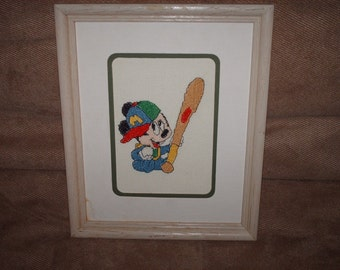 Cross Stitch Baby Mickey Mouse
