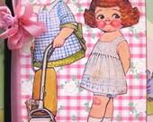 Sweet Paper Doll Journal Notebook