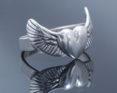 Heart with Wings Ring in Sterling Silver
